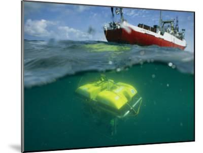 An Unmanned Submersible Conducts Research in the Black Sea-Randy Olson-Mounted Photographic Print