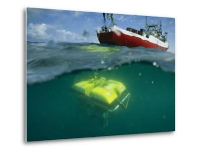 An Unmanned Submersible Conducts Research in the Black Sea-Randy Olson-Metal Print