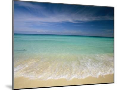 Clear Blue Water and Wispy Clouds Along the Beach at Cancun-Michael Melford-Mounted Photographic Print