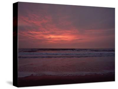 Pastel Clouds Color the Atlantic Surf-James P^ Blair-Stretched Canvas Print