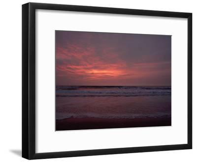 Pastel Clouds Color the Atlantic Surf-James P^ Blair-Framed Photographic Print