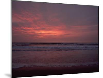 Pastel Clouds Color the Atlantic Surf-James P^ Blair-Mounted Photographic Print