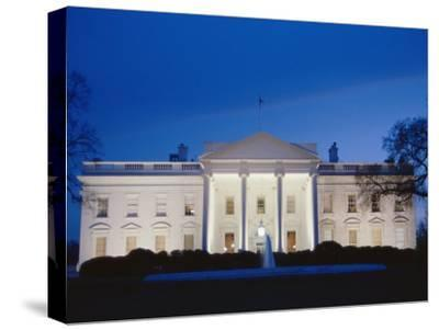White House Facade at Twilight-Richard Nowitz-Stretched Canvas Print