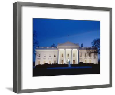 White House Facade at Twilight-Richard Nowitz-Framed Photographic Print