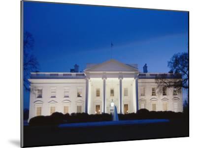 White House Facade at Twilight-Richard Nowitz-Mounted Photographic Print