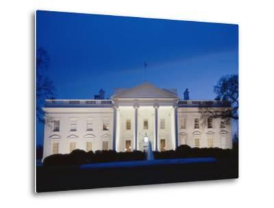 White House Facade at Twilight-Richard Nowitz-Metal Print