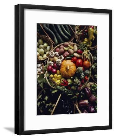 Various Vegetables in a Basket at the Tilth Festival in Seattle-Sam Abell-Framed Photographic Print