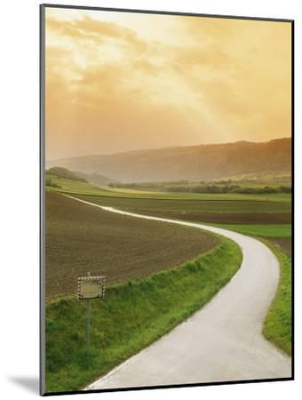 The Golden Sun Glows Through Cloud Cover to Illuminate a Country Road-Richard Nowitz-Mounted Photographic Print