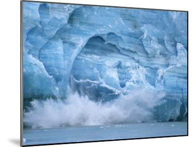 Hubbard Glacier Calving Chunks of Ice into the Water-Michael Melford-Mounted Photographic Print