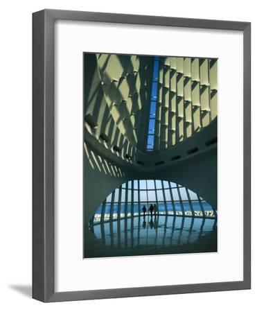 A View of the Inside of the Milwaukee Art Museum-Medford Taylor-Framed Photographic Print