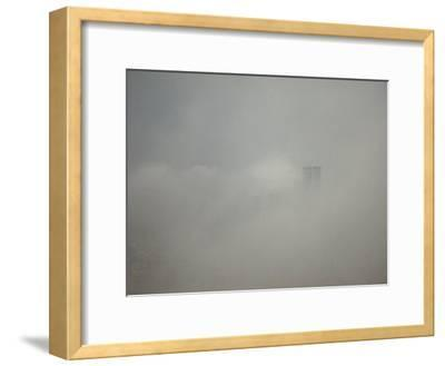 New York City with World Trade Center Through a Storm Front-Jason Edwards-Framed Photographic Print