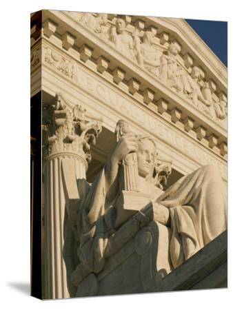 The Contemplation of Justice Sculpture outside the Supreme Court-Richard Nowitz-Stretched Canvas Print