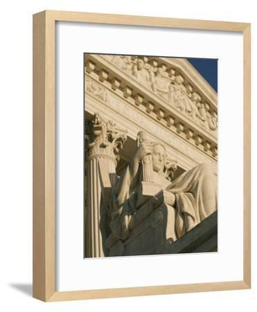 The Contemplation of Justice Sculpture outside the Supreme Court-Richard Nowitz-Framed Photographic Print