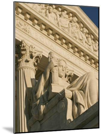 The Contemplation of Justice Sculpture outside the Supreme Court-Richard Nowitz-Mounted Photographic Print