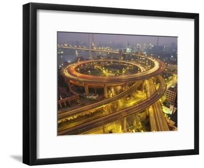 The Nanpu Bridge, Connecting Shanghai with the Pudong New Area-xPacifica-Framed Photographic Print