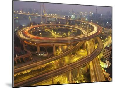The Nanpu Bridge, Connecting Shanghai with the Pudong New Area-xPacifica-Mounted Photographic Print