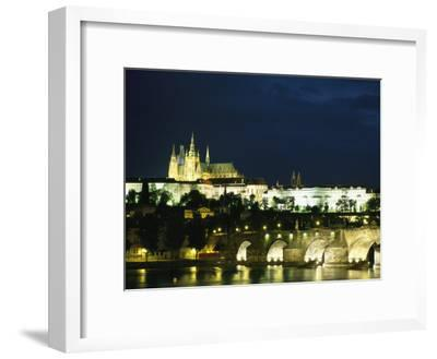 Evening View of the Skyline of Old Prague-Taylor S^ Kennedy-Framed Photographic Print