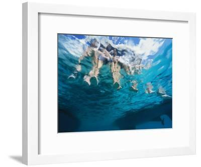 Boaters Dangle Their Feet in the Caribbean Sea-Heather Perry-Framed Photographic Print