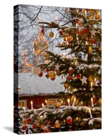 Christmastime at Tivoli Gardens, Copenhagen, Denmark-Keenpress-Stretched Canvas Print