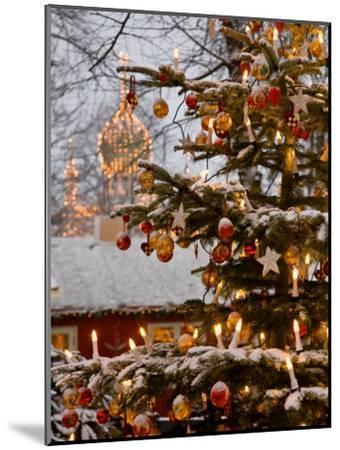 Christmastime at Tivoli Gardens, Copenhagen, Denmark-Keenpress-Mounted Photographic Print
