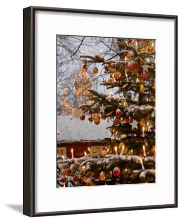 Christmastime at Tivoli Gardens, Copenhagen, Denmark-Keenpress-Framed Photographic Print