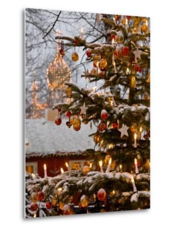 Christmastime at Tivoli Gardens, Copenhagen, Denmark-Keenpress-Metal Print