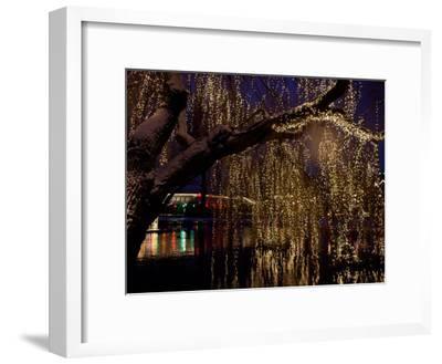 Christmas at Tivoli Where Holiday Lights Brighten the Long Winter Night-Keenpress-Framed Photographic Print