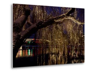 Christmas at Tivoli Where Holiday Lights Brighten the Long Winter Night-Keenpress-Metal Print