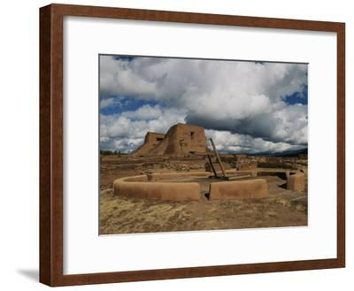 View of the Kiva and Church at Pecos National Historical Park-Ira Block-Framed Photographic Print