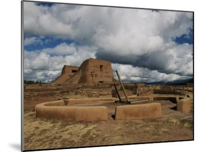 View of the Kiva and Church at Pecos National Historical Park-Ira Block-Mounted Photographic Print