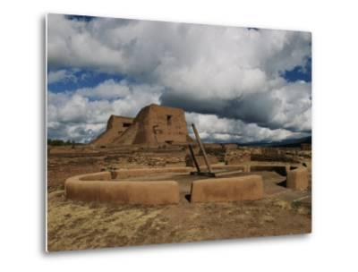 View of the Kiva and Church at Pecos National Historical Park-Ira Block-Metal Print