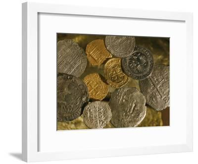 Gold and Silver Coins Minted in Both Spain and the Colonies-Ira Block-Framed Photographic Print