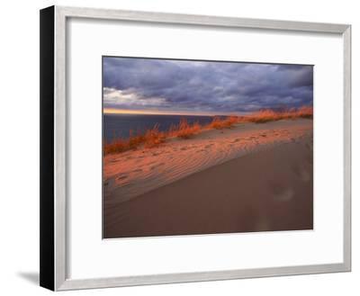 Scenic View of Sleeping Bear Dunes National Lakeshore-Melissa Farlow-Framed Premium Photographic Print
