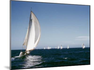 A 35-Foot Sailing Sloop is Seen from Behind-W^ Robert Moore-Mounted Photographic Print