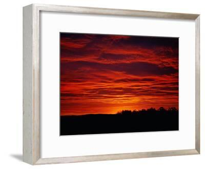 A Sunrise Bathes the Clouds in a Red Glow-Heather Perry-Framed Photographic Print