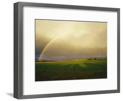 A Rainbow Appears over the Landscape-Jason Edwards-Framed Photographic Print