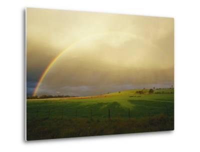 A Rainbow Appears over the Landscape-Jason Edwards-Metal Print