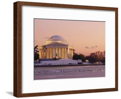 A Winter View of the Jefferson Memorial and the Tidal Basin at Twilight-Richard Nowitz-Framed Photographic Print