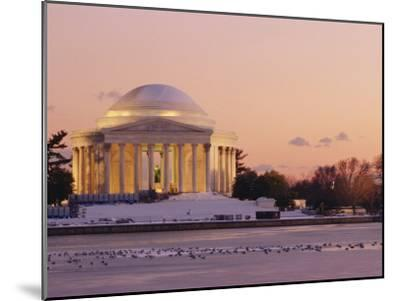 A Winter View of the Jefferson Memorial and the Tidal Basin at Twilight-Richard Nowitz-Mounted Photographic Print