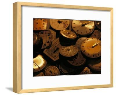 A Still Life of Old Watch Faces-Joel Sartore-Framed Photographic Print