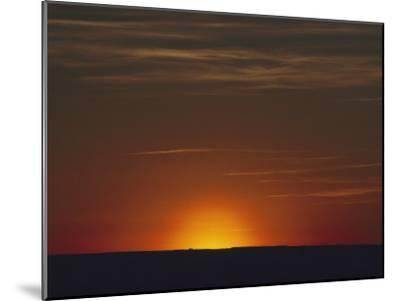 Sunrise in the Desert, Arizona-David Edwards-Mounted Photographic Print