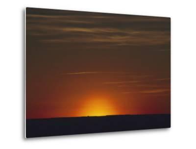 Sunrise in the Desert, Arizona-David Edwards-Metal Print