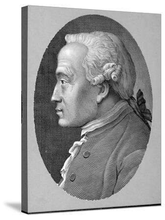 German Philosopher and Metaphysician Immanuel Kant--Stretched Canvas Print