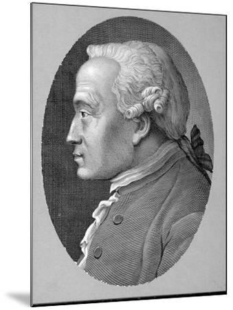German Philosopher and Metaphysician Immanuel Kant--Mounted Photographic Print