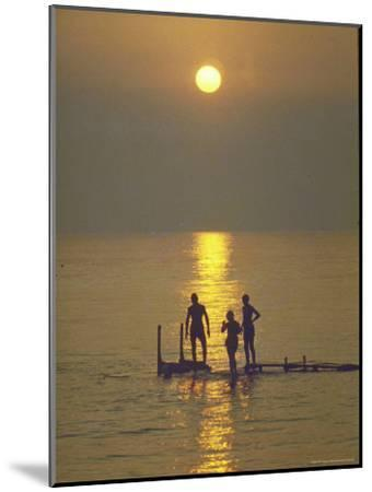 Sunset over the Calm Waters in Menemsha Bay, Martha's Vineyard-Alfred Eisenstaedt-Mounted Photographic Print