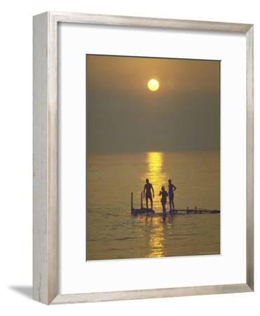 Sunset over the Calm Waters in Menemsha Bay, Martha's Vineyard-Alfred Eisenstaedt-Framed Photographic Print
