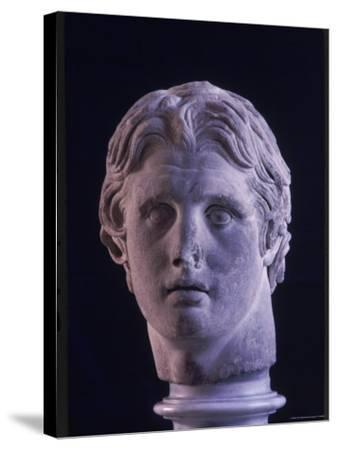 Hellenic Sculpture of Alexander the Great from the Musee D'Antiquities de Stambul-Dmitri Kessel-Stretched Canvas Print