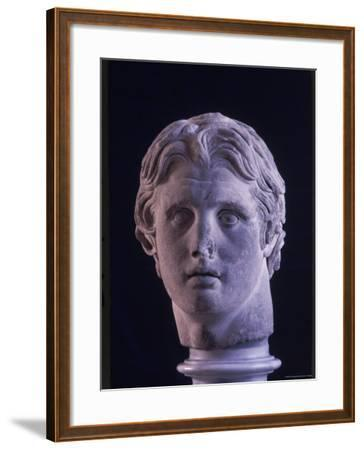 Hellenic Sculpture of Alexander the Great from the Musee D'Antiquities de Stambul-Dmitri Kessel-Framed Photographic Print