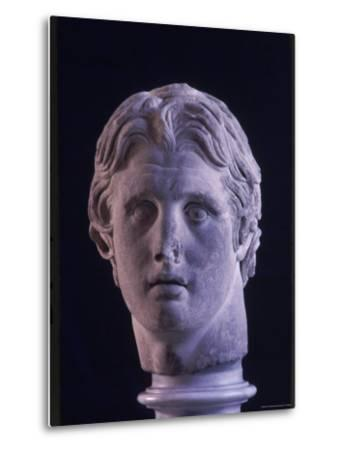Hellenic Sculpture of Alexander the Great from the Musee D'Antiquities de Stambul-Dmitri Kessel-Metal Print