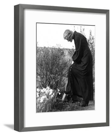 Madame Maud Gonne MacBride Working in Her Garden-John Phillips-Framed Photographic Print